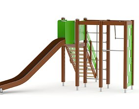 3D model Lappset Activity Tower 06