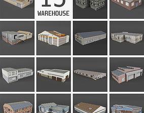 3D asset 15 Industrial Buildings Collection II