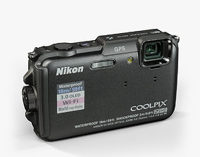 3D model Nikon Coolpix AW110 rugged and proof digital