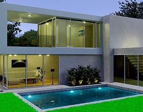 3D model Modern home Exterior