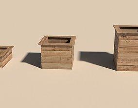 3D model Wood planter