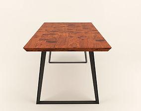 Industrial design dining table 3D model