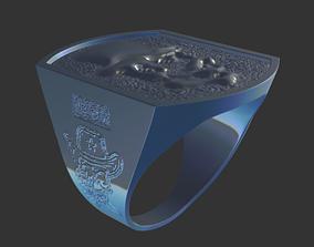 gold-ring 3D print model Ring 06
