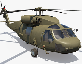 3D model Military Helicopter - Black Hawk