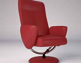 3D asset Leather Office Chair