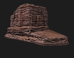 Desert Rock Mountain 3D asset