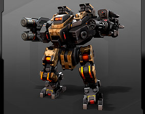 3D model animated SF Heavy MECHA HM4