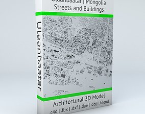 Ulaanbaatar Streets and Buildings 3D model