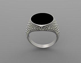 Signet man ring 3D printable model