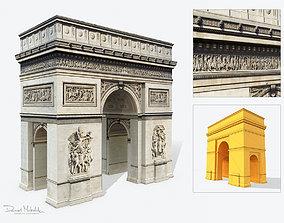 3D asset Low Poly Triumphal Arch