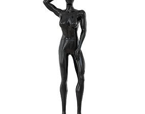 Female Black Faceless Mannequin 84 3D
