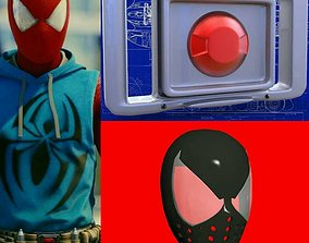 3D print model Scarlet Spider Faceshell and Belt Buckle