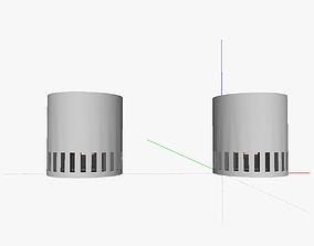 Portable wood gas stove 3D printable model