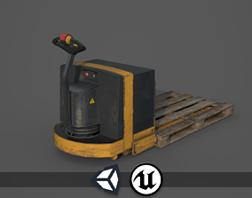 3D model Industrial Vehicle - Pallet Truck - PBR and Game
