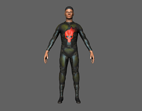Character 04 army military sci fi rigged 3D asset