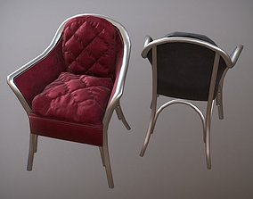 Chrome Armchairs 3D asset