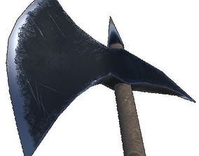 Battle axe 3D asset
