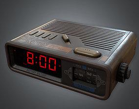 3D model 80s - Alarm Clock 01 Retro