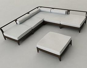 Outdoor Furniture Set 3D porch