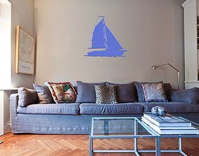 Sailing boat for wall decoration 5 3D print model