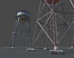 3D model low-poly Big Water Tower