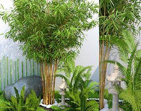 Tropical Garden Home Garden 3D model