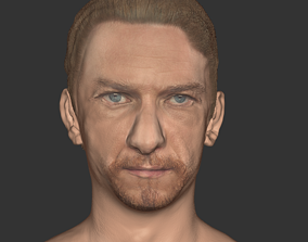 low-poly James Mc avoy head realistic actor Hollwood 1