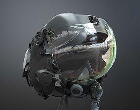 Fighter Pilot Flight Helmet 3D armored