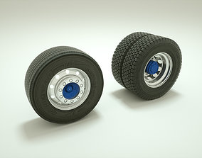 3D Wheel and tire truck