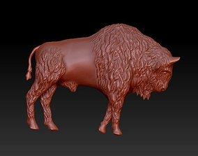 3D printable model creature bison relief