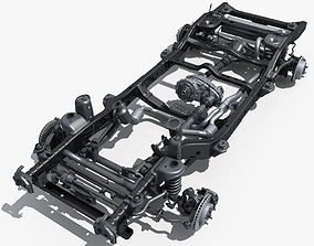 Car Chassis 02 3D model