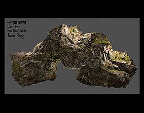 flint 3D asset low-poly Rock