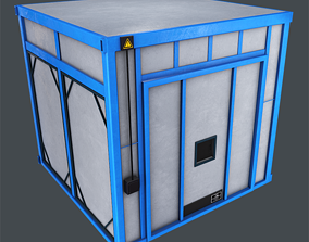 Industrial Oven Game Ready 3D model