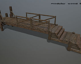 3D model realtime wood bridge