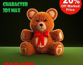 Teddy Bear cartoon rigged 3D asset