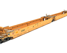 3D Railroad Double Stack Cars