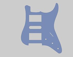 pickguard per chitarra mod ST H-S-H 3D print model