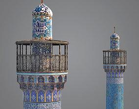 Minaret 3D model game-ready