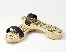 3D model Wooden Clogs
