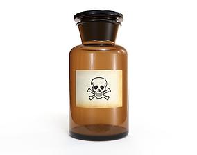 Glass Poison Bottle 3D model