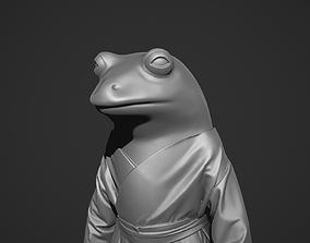 Frog in kimono 3D print model
