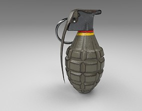 Grenade 3D model low-poly military