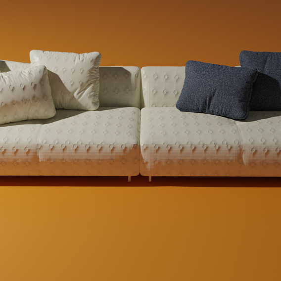 Beige Italian sofa