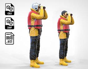 3D print model N3 Lifeboat Crew Volunteer RNLI Rescue
