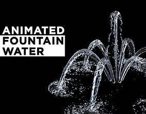 3D model animated Fountain Water spray