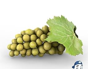 3D White Grapes