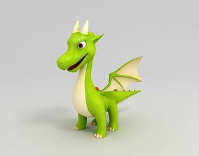 tale 3D model Cartoon Dragon