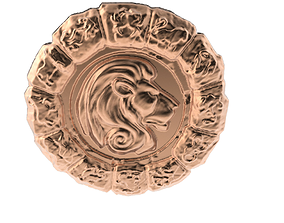 Medal Astro Leo 3D print model