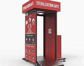 Sterilization Gate COVID-19 3D