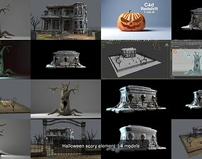 3D model Halloween scary element